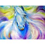 5D DIY Full Drill Diamond Painting Horse Painting Cross Stitch Kit (B0100)