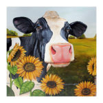 5D DIY Full Drill Diamond Painting Cow Animal Cross Stitch Decor (B437)