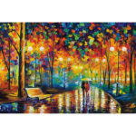 1000 Pieces Paper Jigsaw Puzzles Raining Lovers Assembling Picture Craft