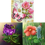 5D DIY Full Drill Diamond Painting Flowers Animal Cross Stitch Kit (JH073)