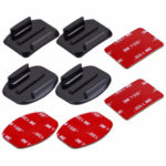 PULUZ Helmet Adhesive Mounts Action Camera Curved Flat Pads for GoPro HERO