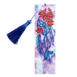DIY Special Shaed Diamond Painting Leather Bookmark with Tassel Book Logo