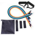11pcs Resistance Band TPE Tube Stretch Pull Rope Expander Fitness Equipment