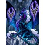 5D DIY Full Drill Diamond Painting Novelty Dragon Cross Stitch Kit (W0205)