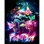 5D DIY Full Drill Diamond Painting Gorgeous Skull Cross Stitch Embroidery