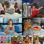 5D DIY Full Drill Diamond Painting Happy Girl Cross Stitch Decor (LG106)