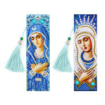 2x 5D DIY Diamond Painting Leather Bookmarks Goddess Embroidery Page-Marker