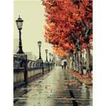 Painting By Numbers DIY Leaves Pathway Hand Painted Canvas Oil Art Picture