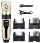 Dog Hair Trimmer Cutter Machine Pet Haircut Clipper USB Electric Shaver Kit