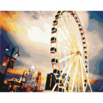 Painting By Numbers Kit DIY Sky Wheel Hand Painted Canvas Oil Art Picture