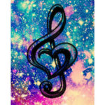 Painting By Numbers Kit DIY Music Note Hand Painted Canvas Oil Art Picture