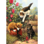 5D DIY Full Drill Diamond Painting Cats Cross Stitch Embroidery Ornaments
