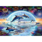 5D DIY Full Drill Diamond Painting Dolphin Cross Stitch Embroidery Craft