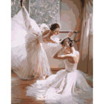 Painting By Numbers Kit DIY Ballet Dancer Canvas Oil Art Picture Craft