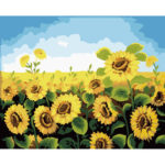 Painting By Numbers Kit DIY Sunflower Hand Painted Canvas Oil Art Picture