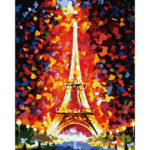 Painting By Numbers Kit DIY Tower Hand Painted Canvas Oil Art Picture Craft