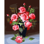 Painting By Numbers Kit DIY Color Flower Canvas Oil Art Picture Home Decor