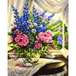 Painting By Numbers Kit DIY Flower Bouquet Canvas Oil Art Picture Ornaments