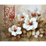 Painting By Numbers Kit DIY Color Flowers Canvas Oil Art Picture Craft