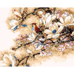 Painting By Numbers Kit DIY Flower Bird Hand Painted Canvas Oil Art Picture