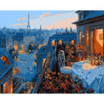 Painting By Numbers Kit DIY Rooftop Hand Painted Canvas Oil Art Picture