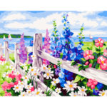 Painting By Numbers Kit DIY Flower Sea Hand Painted Canvas Oil Art Picture