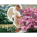 Painting By Numbers Kit DIY Angel Hand Painted Canvas Oil Art Picture Craft