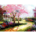 Painting By Numbers Kit DIY Happiness Trail Canvas Oil Art Picture Craft