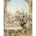 Painting By Numbers Kit DIY Window Scene Canvas Oil Art Picture Craft Gift