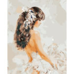 Painting By Numbers Kit DIY Beautiful Girl Canvas Oil Art Picture Craft