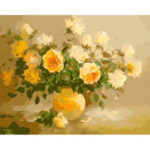 Painting By Numbers Kit DIY Flower Bouquet Canvas Oil Art Picture Craft