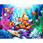 Painting By Numbers Kit DIY Sea World Hand Painted Canvas Oil Art Picture
