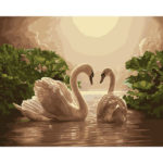 Painting By Numbers Kit DIY Swan Hand Painted Canvas Oil Art Picture Craft