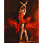Painting By Numbers Kit DIY Dancing Girl Canvas Oil Art Picture Home Decor