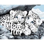 Painting By Numbers Kit DIY Snow Leopard Canvas Oil Art Picture Home Decor