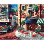 Painting By Numbers Kit DIY Town Hand Painted Canvas Oil Art Picture Craft