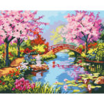Painting By Numbers Kit DIY Scenery Hand Painted Canvas Oil Art Picture
