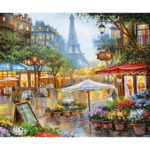 Painting By Numbers Kit DIY View Hand Painted Canvas Oil Art Picture Craft