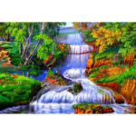 Painting By Numbers Kit DIY Rivers Trees Canvas Oil Art Picture Home Decor