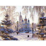 Painting By Numbers Kit DIY Castle Hand Painted Canvas Oil Art Picture Gift
