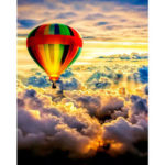 Painting By Numbers Kit DIY Air Balloon Hand Painted Canvas Oil Art Picture