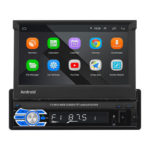 9706 Retractable Screen Android 10.1 GPS Navigation Radio Car Stereo + Cam