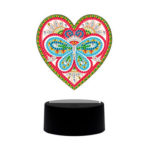 DIY Diamond Painting LED Light Love Heart Embroidery Night Lamp Home Decor
