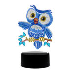 DIY Special Shaped Diamond Painting LED Light Bird Embroidery Night Lamp