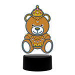 DIY Diamond Painting LED Light Cartoon Bear Embroidery Night Lamp Ornament