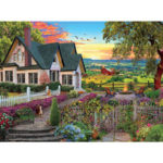 Painting By Numbers Kit DIY House Flower Canvas Oil Art Picture Home Decor