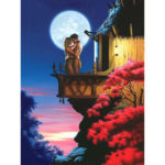Painting By Numbers Kit DIY Moonlight Lover Canvas Oil Art Picture Craft