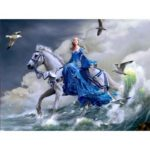 Painting By Numbers Kit DIY Horse Riding Canvas Oil Art Picture Home Decor