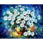 Frameless Painting By Numbers DIY Flowers Hand Paint Canvas Oil Art Picture