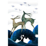 5D DIY Full Drill Diamond Painting Deer Cross Stitch Embroidery Gift (H069)